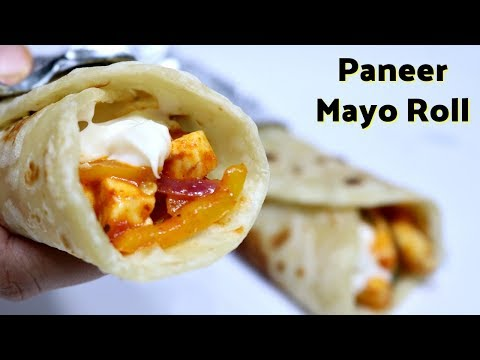 पनीर रोल रेसिपी | Paneer Mayo Roll Recipe | Veg Roll Recipe | Paneer Frankie Recipe | KabitasKitchen