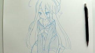 Real Time Drawing (simple sketch) - Shiro No Game no Life