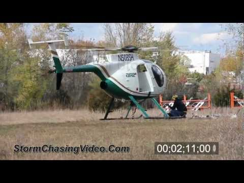High voltage power line & Helicopter B-Roll stock footage