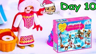Playmobil Holiday Christmas Advent Calendar Day 10 Cookie Swirl C Toy Surprise Video