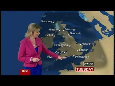 Carol Kirkwood. BBC ONE Breakfast.  -  We`ve got a Weather Front  -  27.Feb.2012