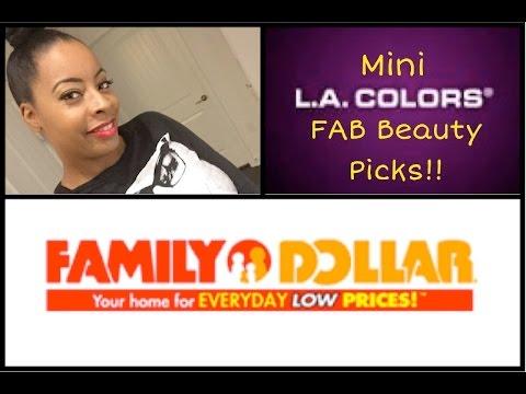 FAMILY DOLLAR   LA COLORS Cosmetics FAB Beauty on a Budget Picks!!