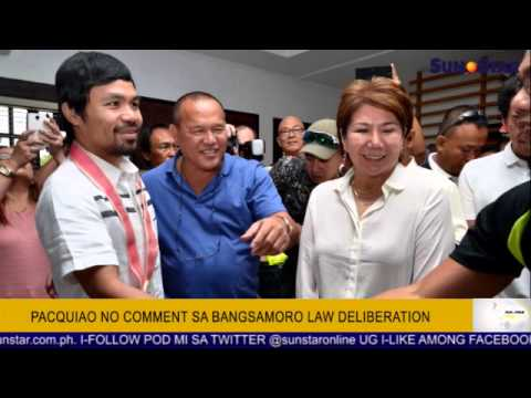 Pacquiao no comment sa Bangsamoro Law deliberation