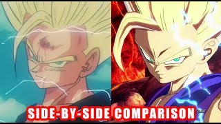 DRAGON BALL FighterZ - Outros/Endings Side by Side Comparison Game and Anime - XB1 PS4 PC