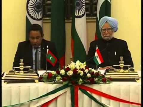 Maldivian President Yameen Abdul visits India, asks India's leadership to resolve regional issues