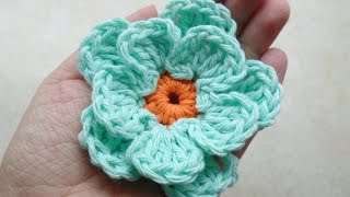 CROCHET How to #Crochet Easy Flower #TUTORIAL #217 LEARN CROCHET