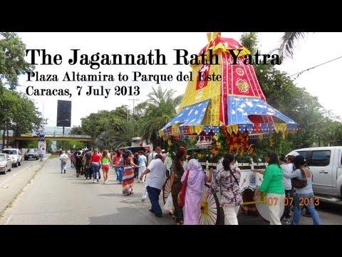 The Jagannath Rath Yatra in Venezuela
