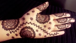 Arabic Floral Henna - Simple Pretty Mehendi Design with Flowers - Easy To Do Mehndi for Beginners