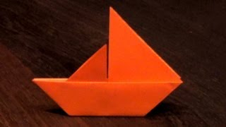 Origami Sail Boat That Stands On Its Own