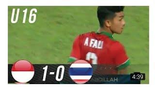 Indonesia U-16 vs Thailand U-16 1-0 FULL HIGHLIGHT AND GOALS  21 September 2017