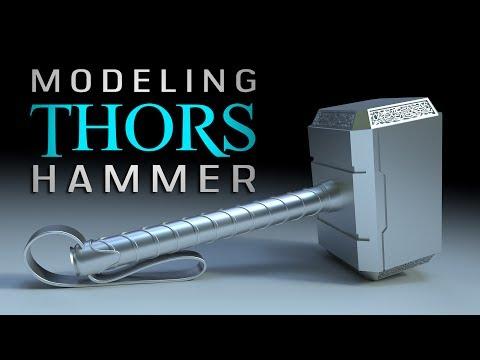Beginner's Blender Tutorial - Modeling Thor's Hammer Mjolnir