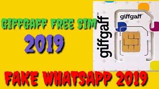 GiffGaff Free Sim March 2019 Fake Whatsapp March 2019