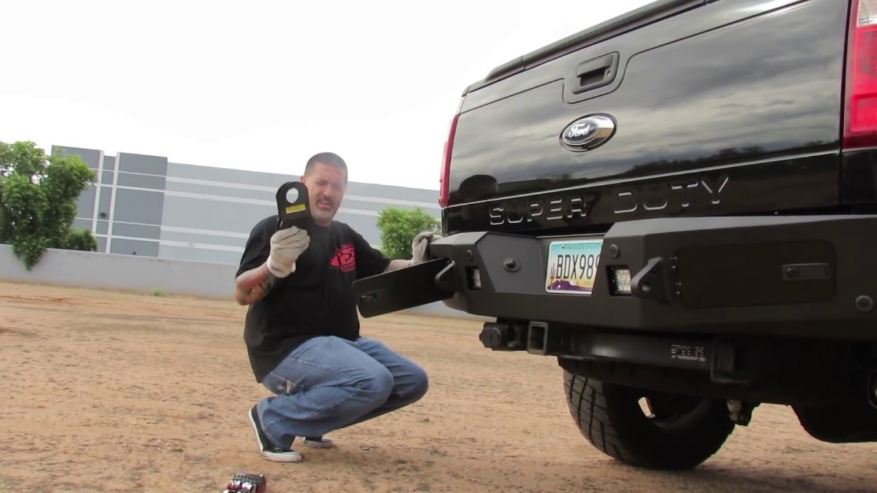 Ford F250 Amp F350 Super Duty Honeybadger Rear Bumper Youtube