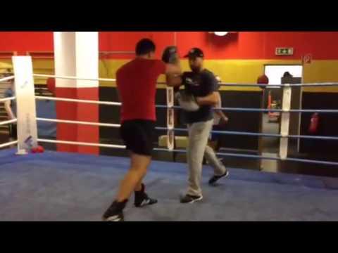 Jihad Ali khan Training Marco Huck Focus Mitts Drills - Boxing Pad Work - Training - Pratzentrainin