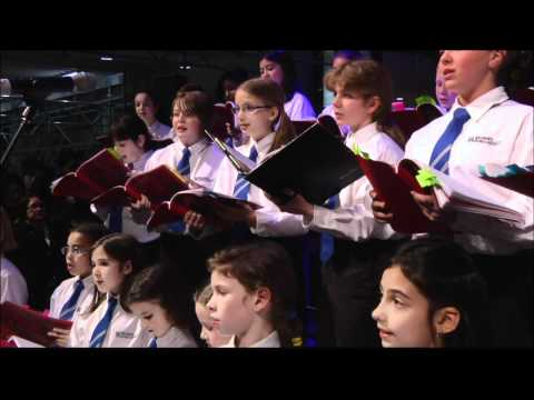 Bach Children's Chorus Performs at Toronto Eaton Centre's Annual Swarovski Crystal Wish Tree 2010
