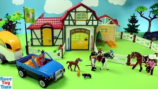 Playmobil Horse Stable Farm Build and Play Toys For Kids
