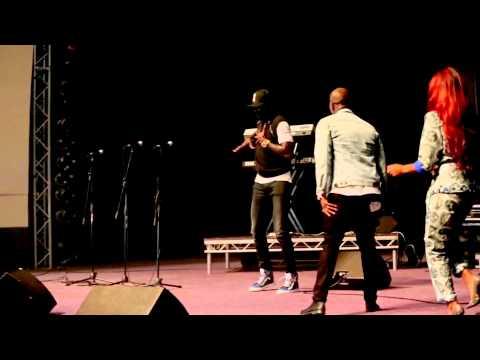 Emmanuel Adebayor dancing at Sarkology Concert 2014 London