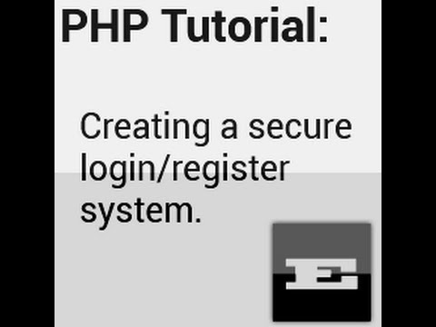How to make a login/register system in PHP