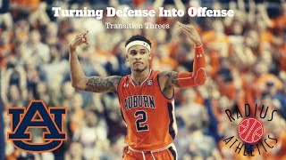 Auburn Tigers - Turning Defense Into Offense - Transition Threes