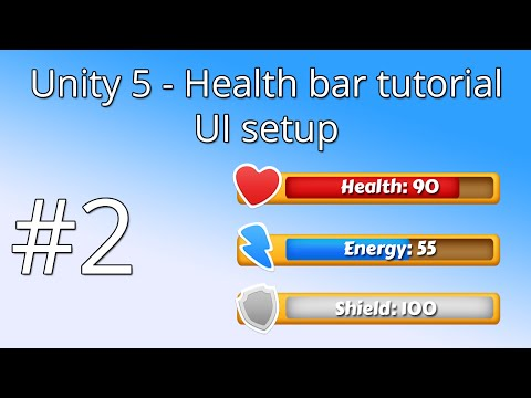 2. Unity 5 health bar tutorial - UI setup