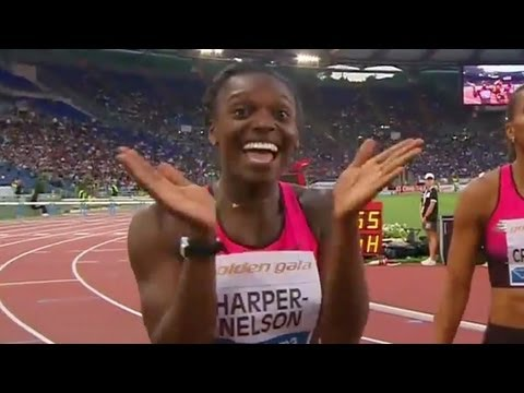 Dawn Harper-Nelson holds off Lolo Jones in Rome - Universal Sports