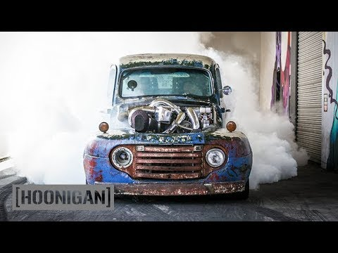 [HOONIGAN] DT 075: 1200HP Twin Turbo Diesel Burnouts (Old Smokey F1)