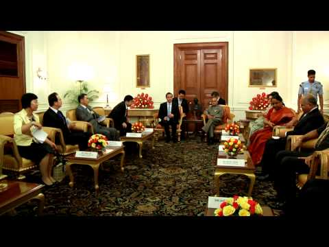 Foreign Minister of China calls-on the President on June 9, 2014