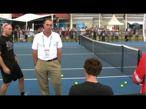 Ivan Lendl and Andy Murray practice session: Brisbane International 2012
