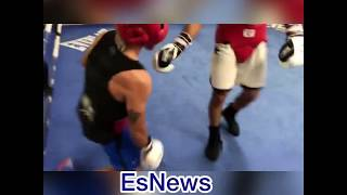 ((MUST SEE)) UFC Star Jose Aldo Body Slams Mexican Olympian Misael Rodriguez In Sparring - EsNews
