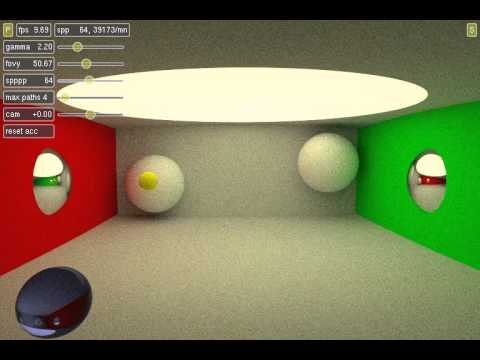 Tokap, real-time path traced Pong on GTX 570