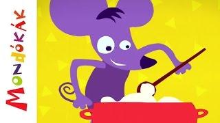 Kását főz a kisegér (mondóka, rajzfilm gyerekeknek)