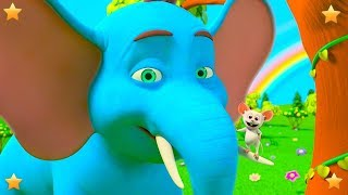 Giant Elephant Song | Nursery Rhymes for Children | Kindergarten Cartoon Songs by Little Treehouse