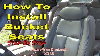 How To Install Bucket Seats / Box Chevy Caprice Custom Seat Swap / Bucket Seat Installation