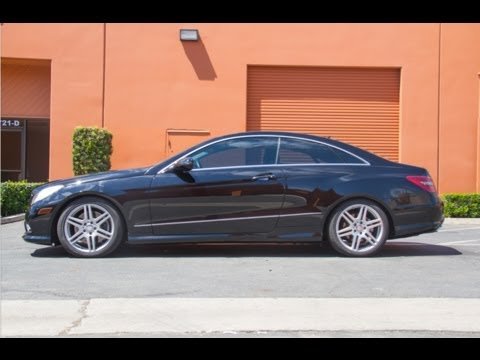 Mercedes benz e550 gets lowered with h r springs at for R h mercedes benz