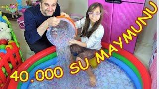 40.000 SU MAYMUNU ORBEEZ ile Havuz Eğlencesi - Eğlenceli Çocuk Videosu - Funny Kids Videos