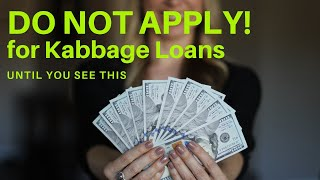 Do Not Apply For Kabbage Loans | UNTIL You See This