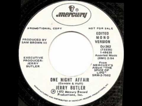 Jerry Butler  one Night Affair video