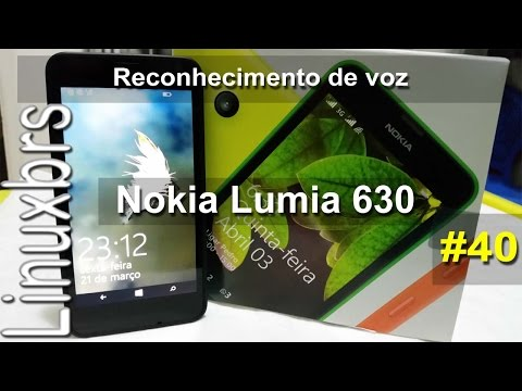 Nokia Lumia 630 WP 8.1 - Reconhecimento de Voz - PT-BR - Brasil