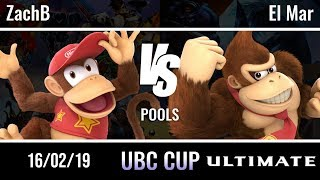 UBC Cup 2019: Pools - ZachB (Diddy Kong) vs El Mar (Donkey Kong)