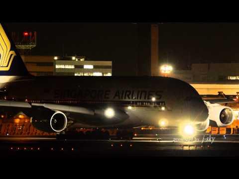 Singapore Airlines Airbus A380-841 [9V-SKS] at Narita Airport [NRT/RJAA] : Landing/Take-off