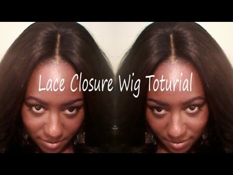 Easy Lace Closure Wig Tutorial  Using the Saga Remy Lace Closure & Yaki Premium Too! Hair