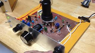 One Tube Regenerative Receiver (7Mhz 40m Amateur Band)