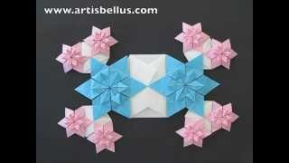 Blue-eyed Grass Flowers - Origami Quilt