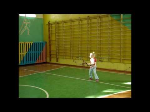 Женькин теннис tennis in Russia 5-years-old