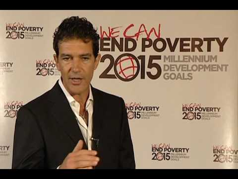Antonio Banderas -- UN Goodwill Ambassador for the Millennium Development Goals (English)