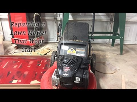 Lawn Mower Repair Briggs & Stratton 550 EX. Mower Won't Start