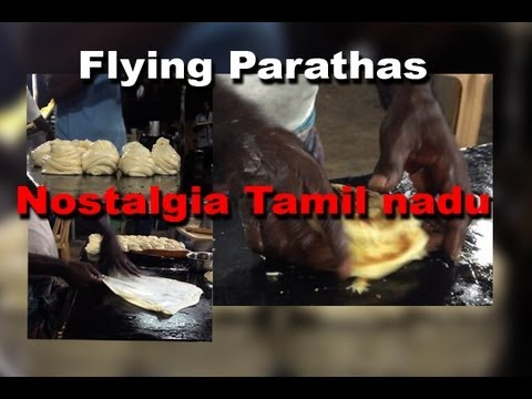 Making Flying Paratha -nostalgia Of Rural Tamil Nadu Hotels - Enjoy[red Pix] video