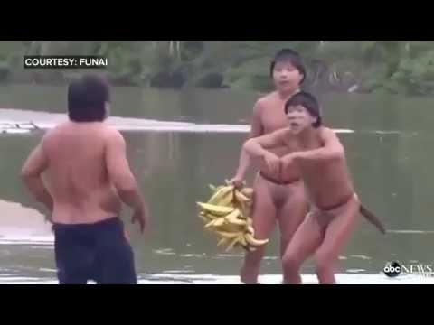 Amazon Tribe Makes Touching Contact With Outside World First Time video