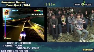F-Zero GX :: SPEED RUN (0:25:30) (Very Hard) by CGN #AGDQ 2014