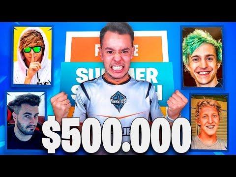 JUGANDO el TORNEO DE FORTNITE de $500.000 - TheGrefg